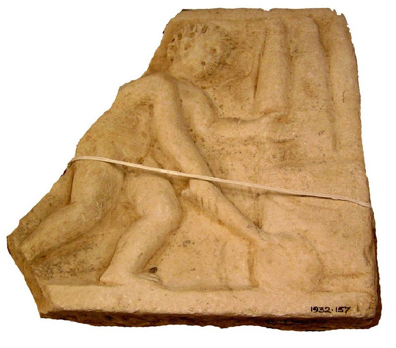 Relief showing Eros in a circus (AN1932.157, AN.1932.157, record shot)