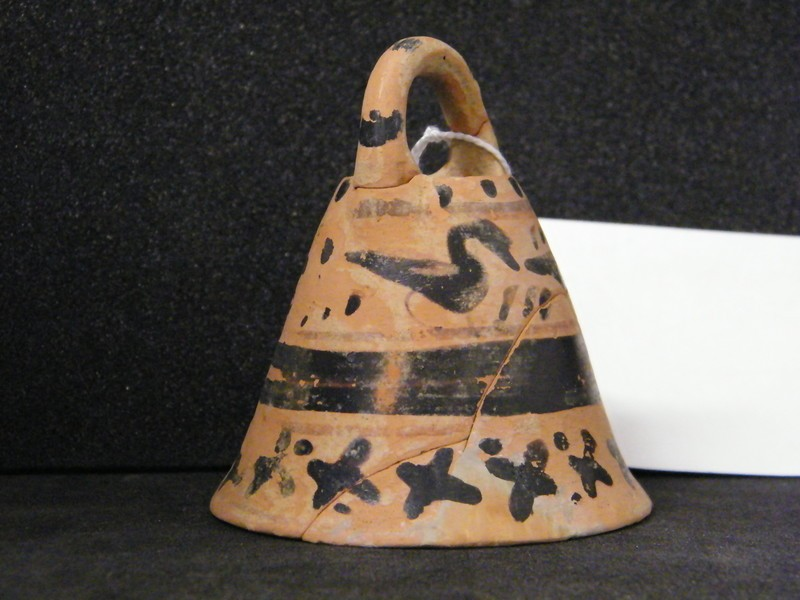 Attic black-figure pottery bell (AN1934.321, AN.1934.321, record shot)