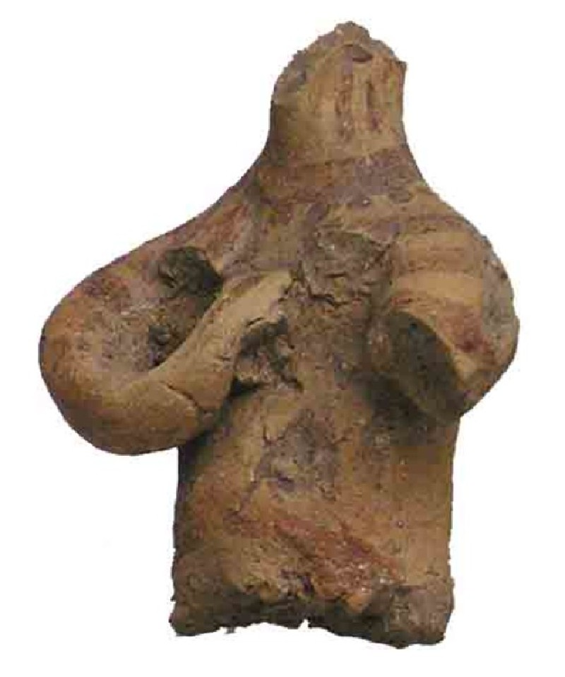 Upper part of a female figurine, 'mother goddess' (AN1937.180, AN.1937.180, record shot)