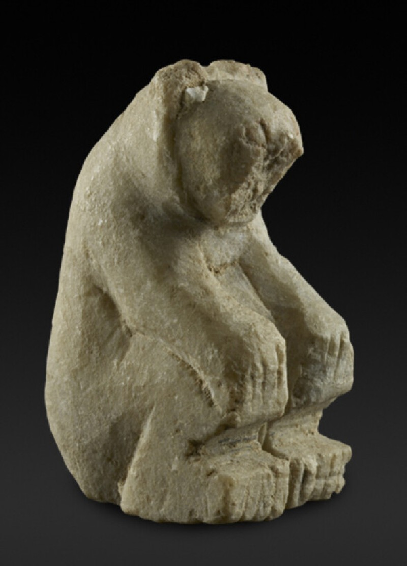 Stone bear figurine