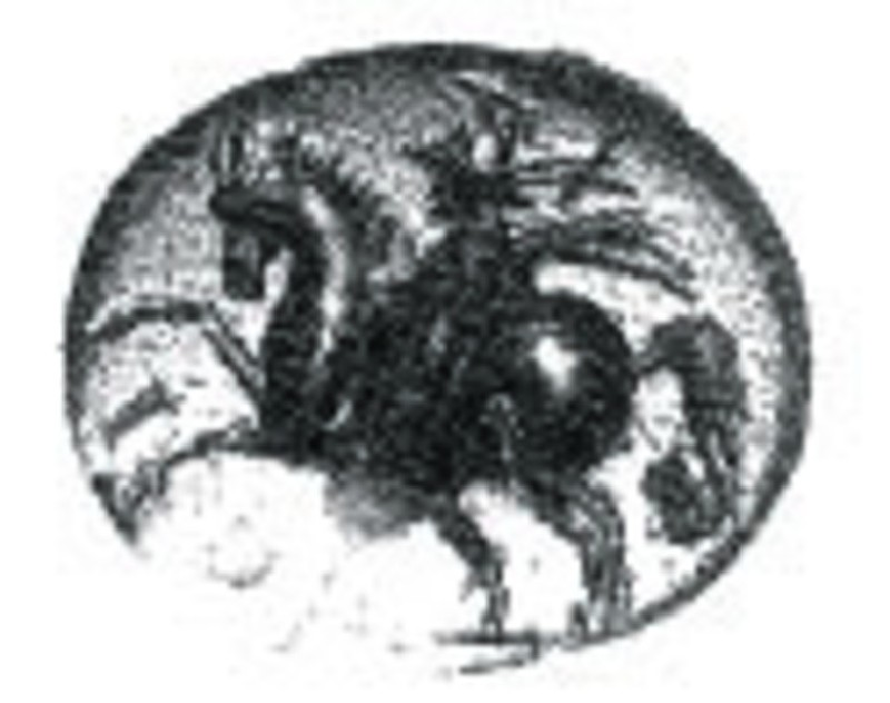 Intaglio gem, horseman (AN1941.353, record shot)