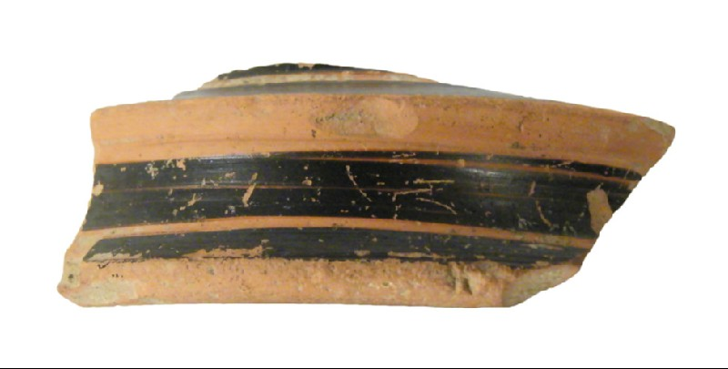Attic red-figure pottery krater sherd (AN1950.172, record shot)