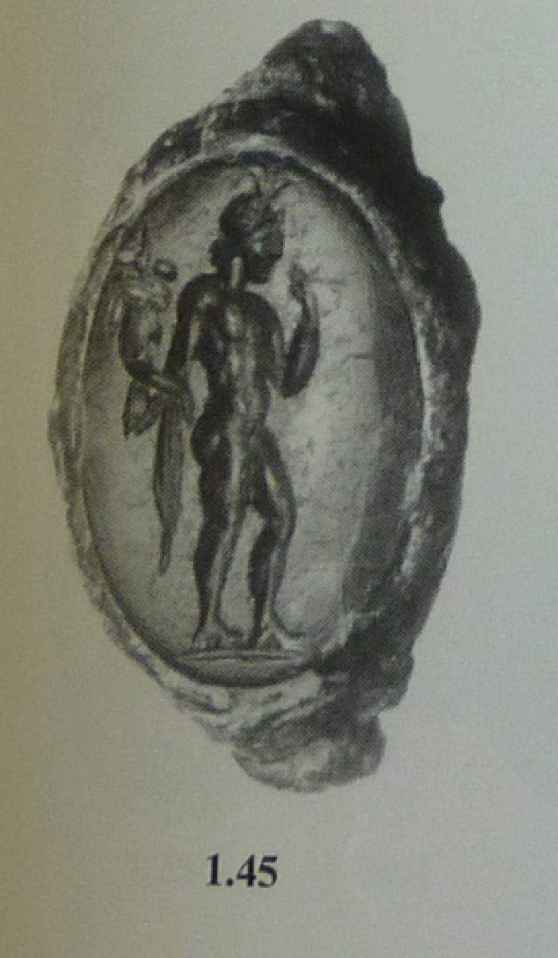 Intaglio gem, Harpokrates (AN1951.386, AN.1951.386, record shot)