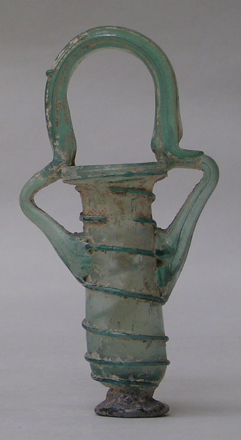 Unguent bottle decorated with trailing spirals on body
