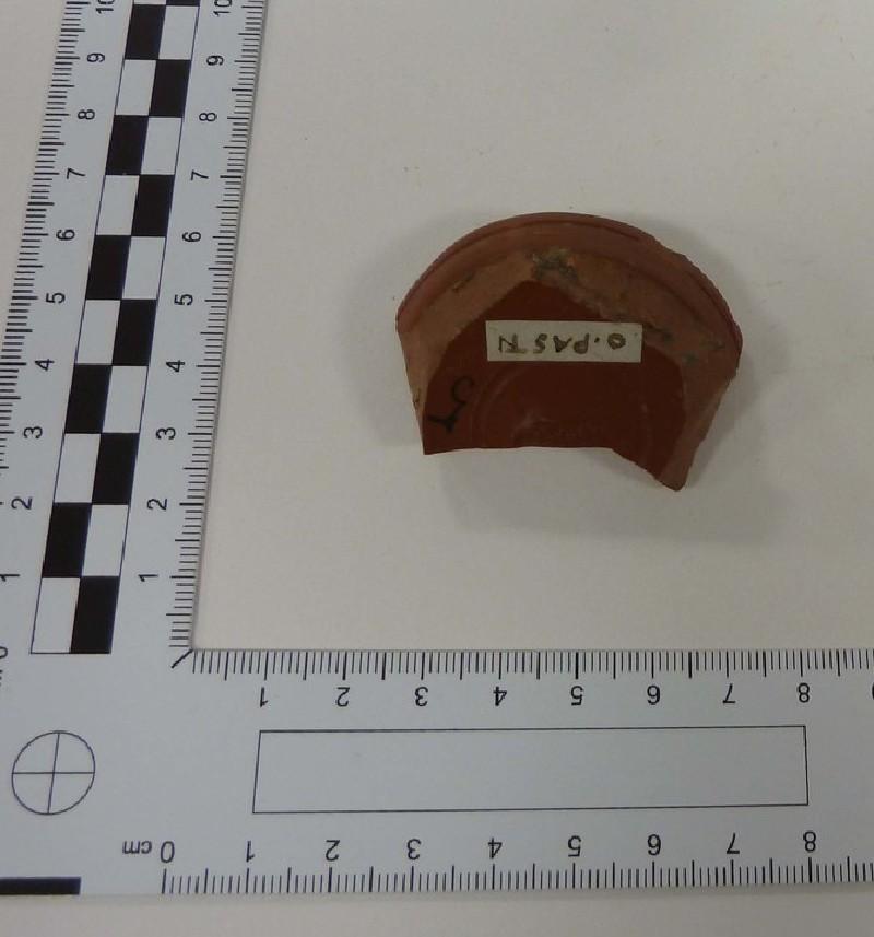Samian bowl fragment marked OPASEN