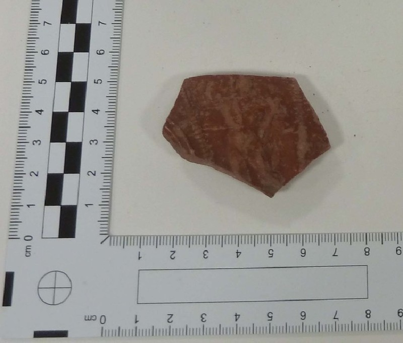 Sherd of a Samian bowl with the figure of Perseus (AN1961.187, record shot)