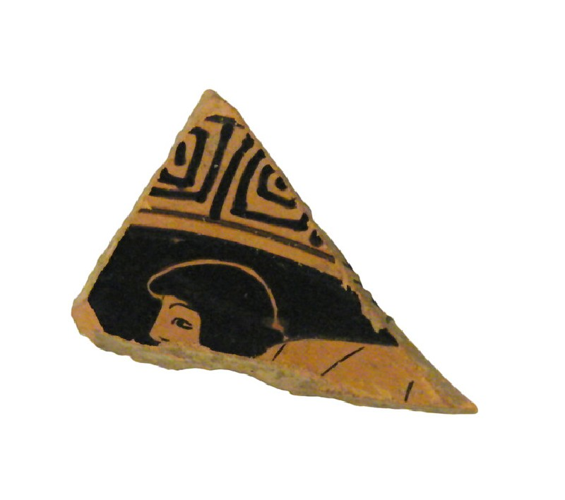 Attic red-figure stemmed pottery cup sherd (AN1966.489, record shot)
