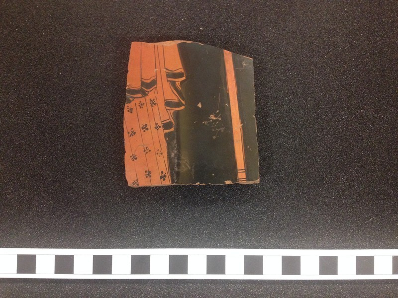 Attic red-figure pottery closed vessel sherd (AN1966.509, record shot)