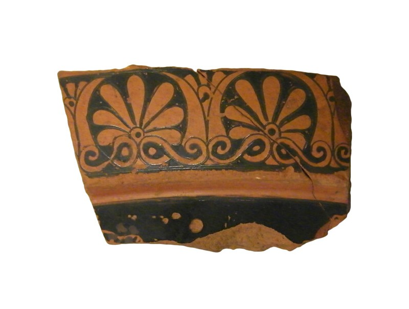 Attic red-figure pottery krater sherd (AN1966.903, AN.1966.903, record shot)