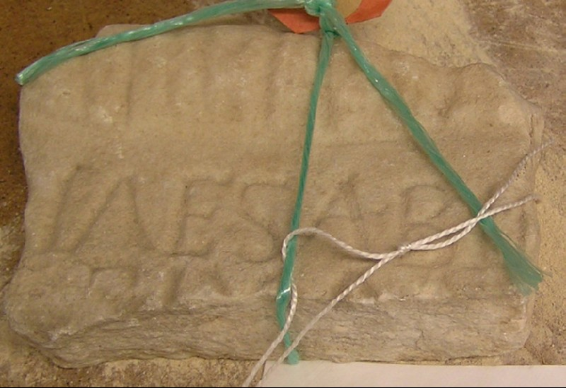 Fragment of a Latin inscription