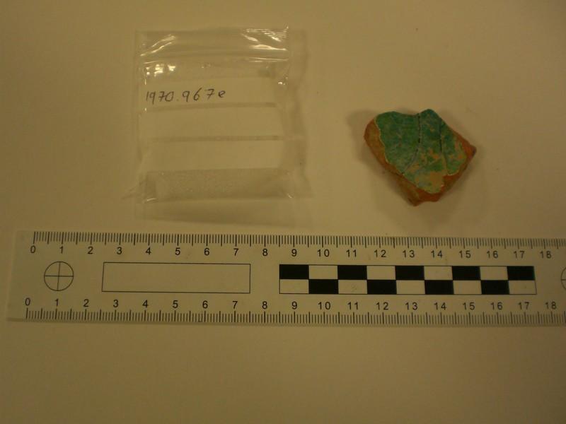 Fragment of glazed Medieval sgraffito wear
