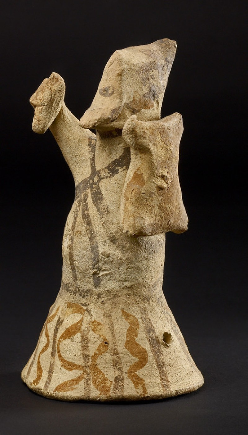 Toy figurine of a warrior with shield and dagger (AN1976.39)
