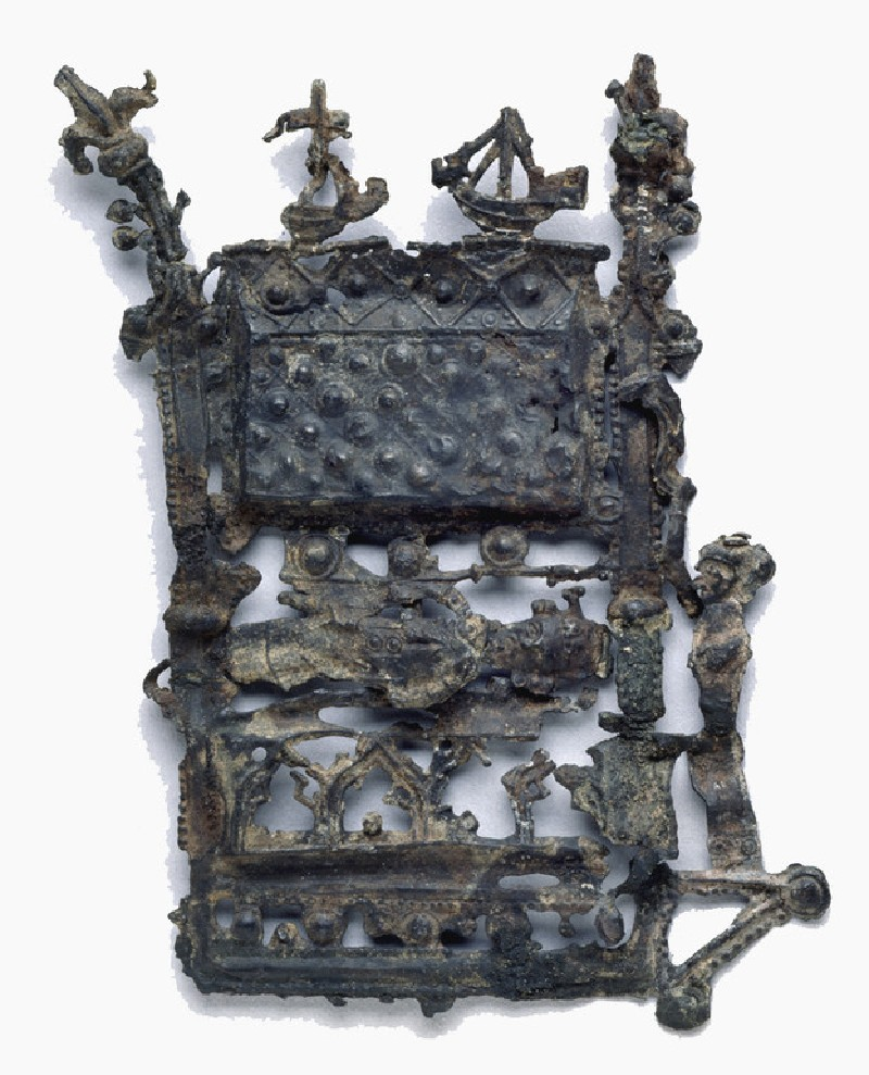 Pilgrim badge in the form of the shrine of Thomas Becket (AN1988.397, AN.1988.397, record shot)