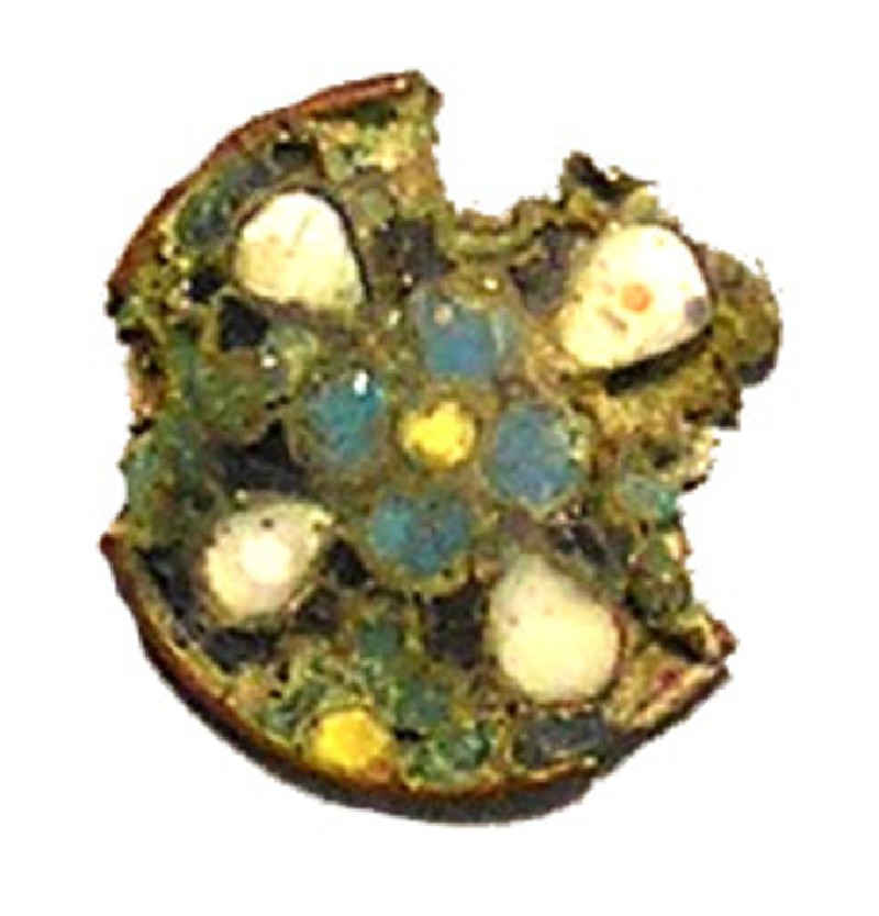 Cloisonne centre piece of a brooch (AN1992.98, AN.1992.98, record shot)