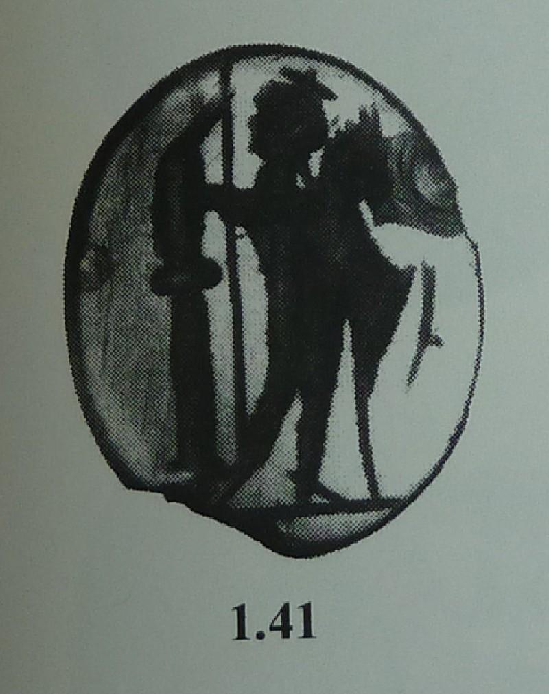 Intaglio gem, Dioscurus (AN2009.12, AN.2009.12, record shot)