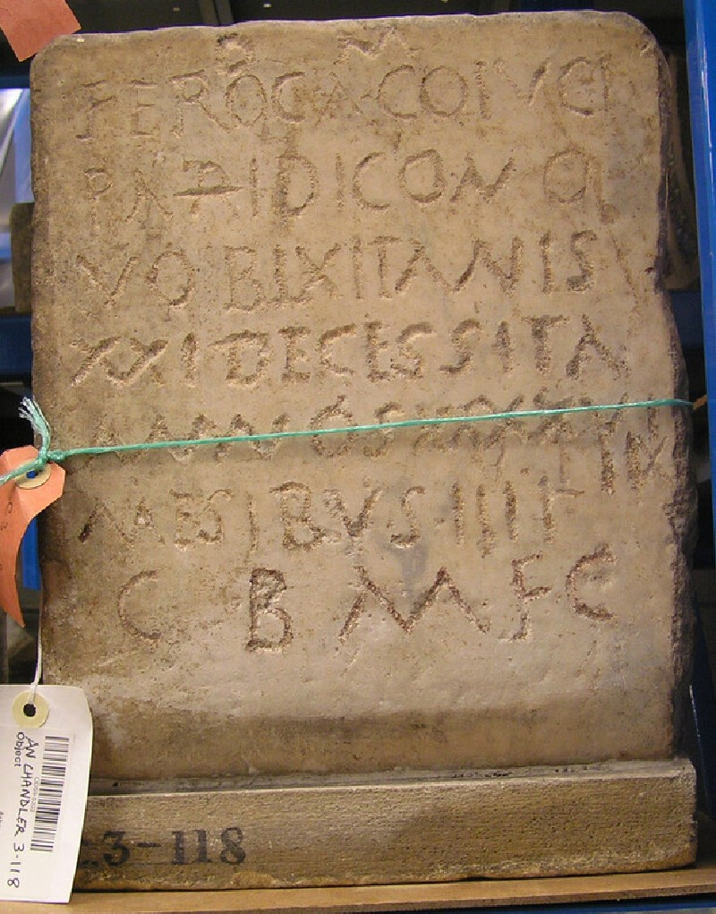 Funerary Latin inscription