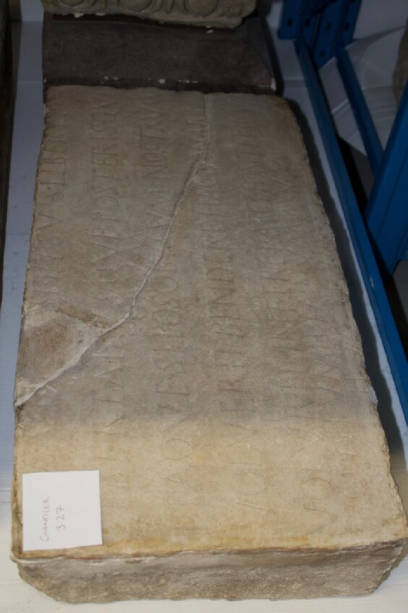Fragment of Latin funerary inscription