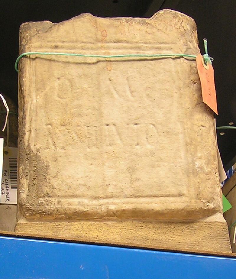 Grave stele with Latin inscription