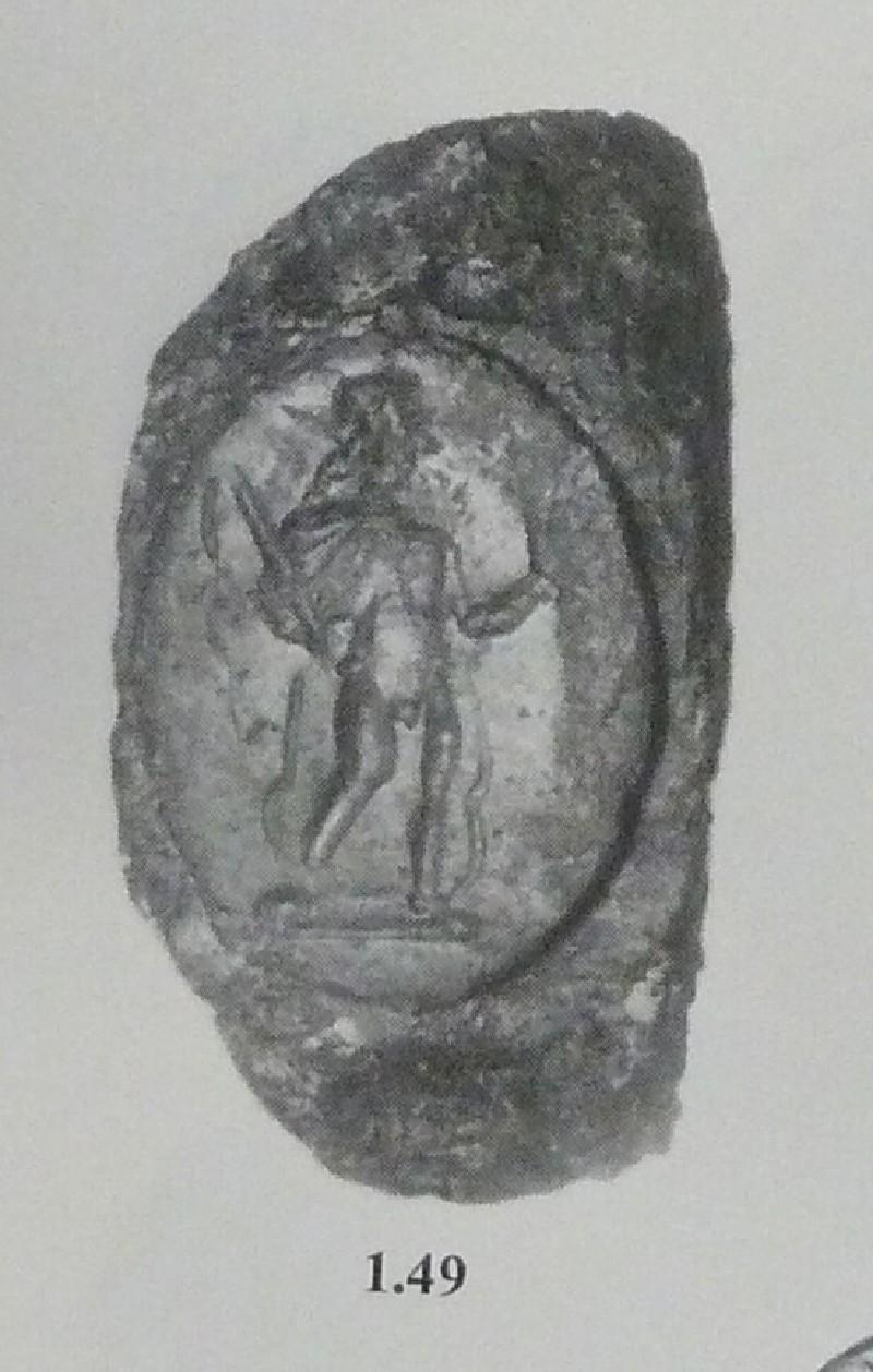 Intaglio gem, Helios, set in a finger-ring
