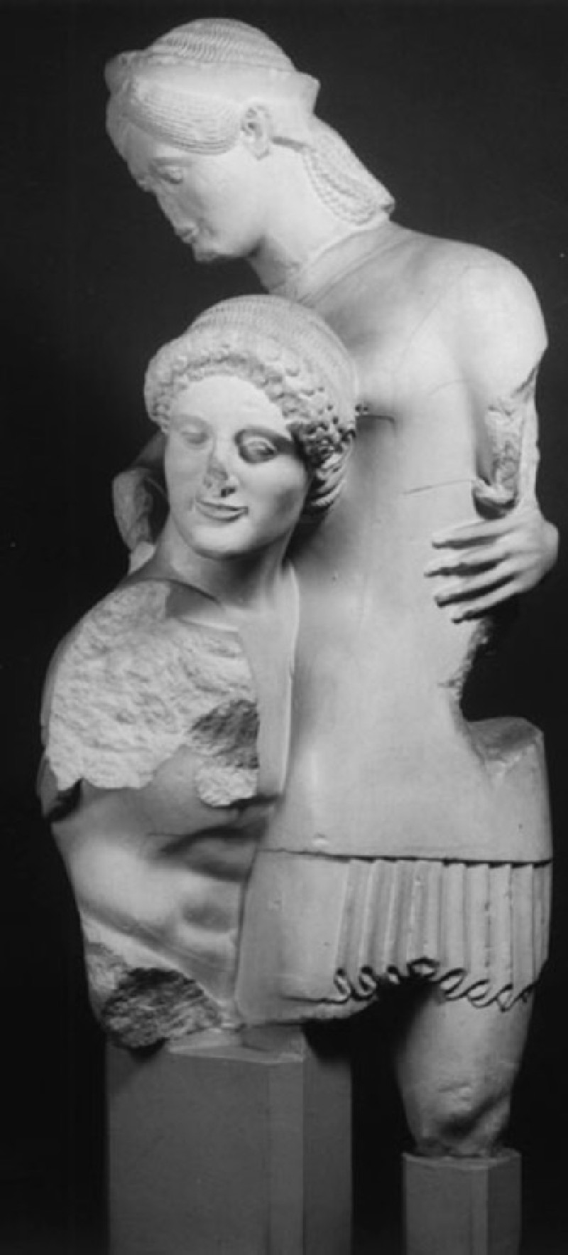 Cast of Theseus and Antiope from the west pediment of the Temple of Apollo, Eretria