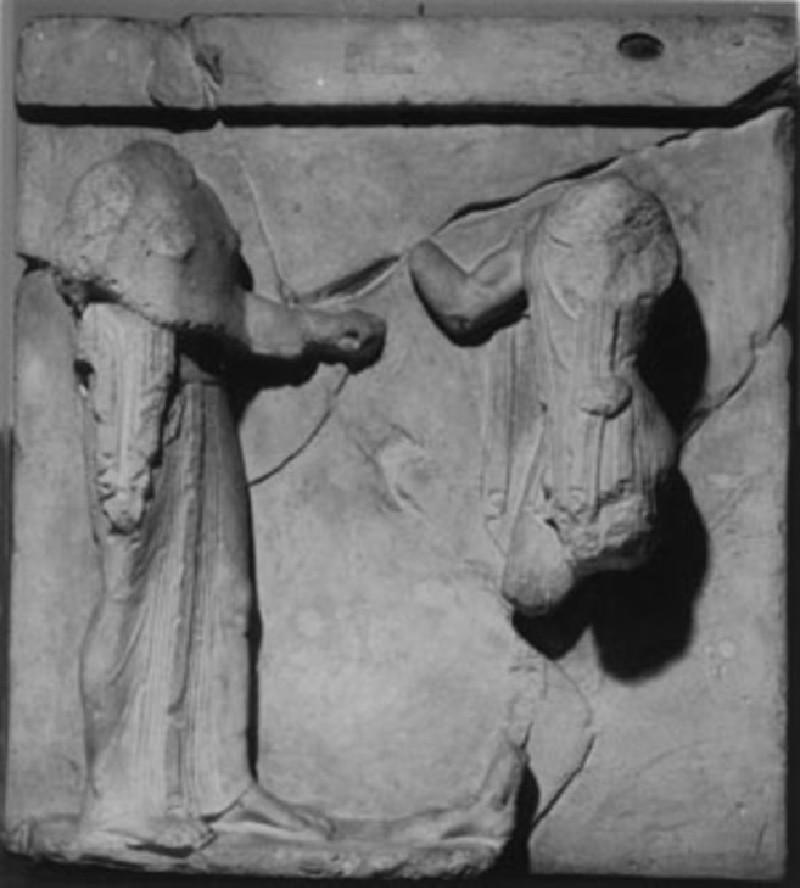 Cast of a metope from the south side of the Treasury of Athenians, Delphi