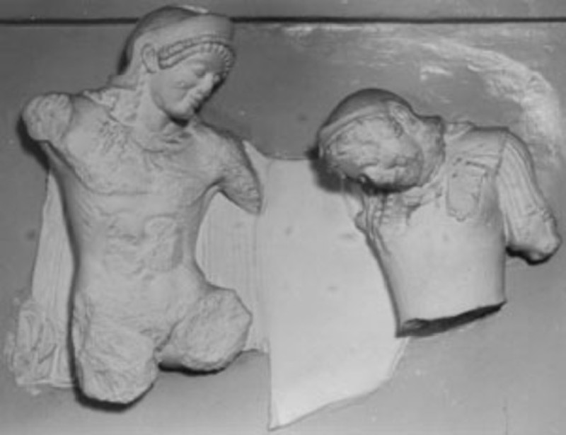 Cast of a metope from the south side of the Treasury of Athenians, Delphi (CG.A.23, record shot)