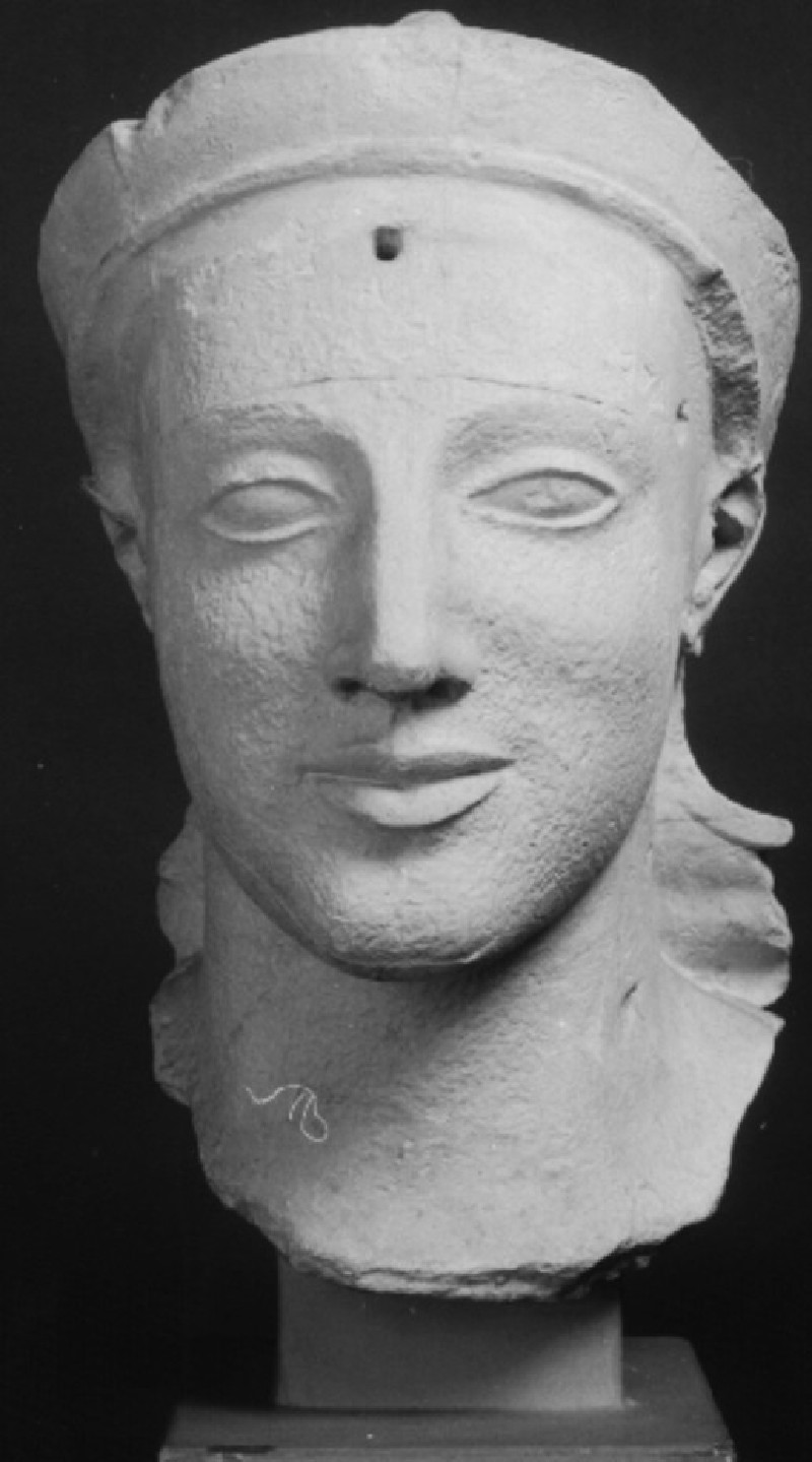 Cast of head of Athena from the east pediment of the Temple of Aphaia, Aigina