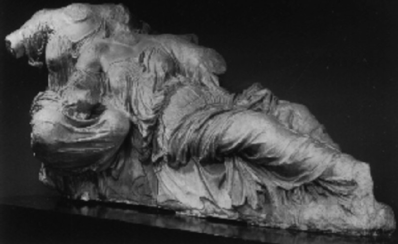 Cast of a Aphrodite and Dione from the east pediment of the Parthenon, Athens (CG.A.94, record shot)