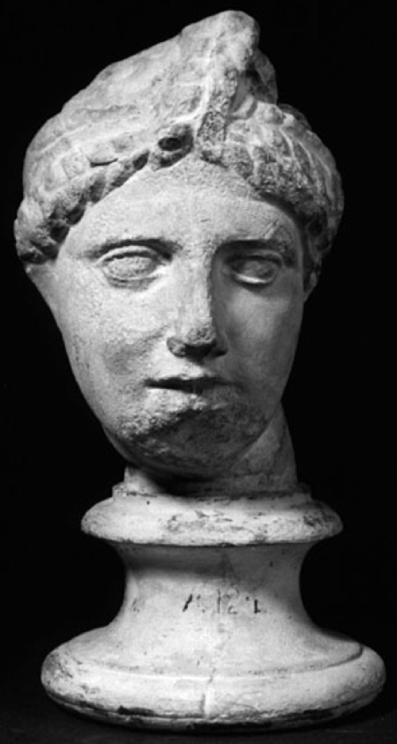 Cast of head of Amazon from the west pediment of the Temple of Asklepios, Epidauros (CG.A.124, record shot)