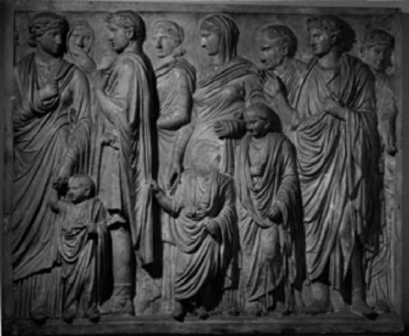 Cast of the south frieze of the Ara Pacis