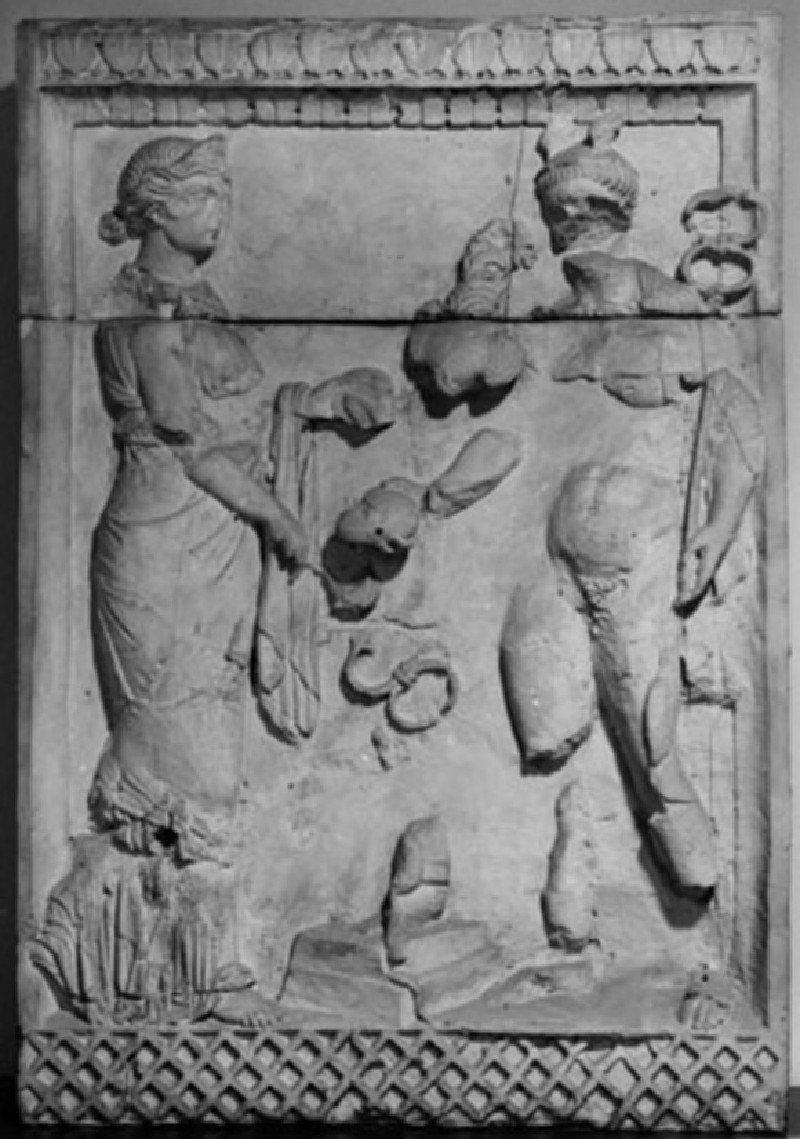Cast of a relief from the pedestal of Jupiter column, Mainz