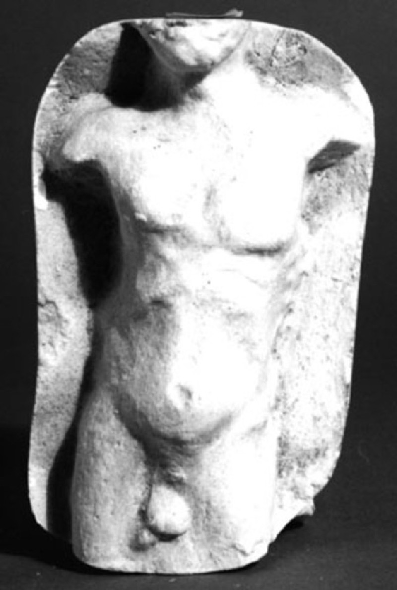 Cast of a relief of a naked male, from Agrigento (CG.B.79, record shot)
