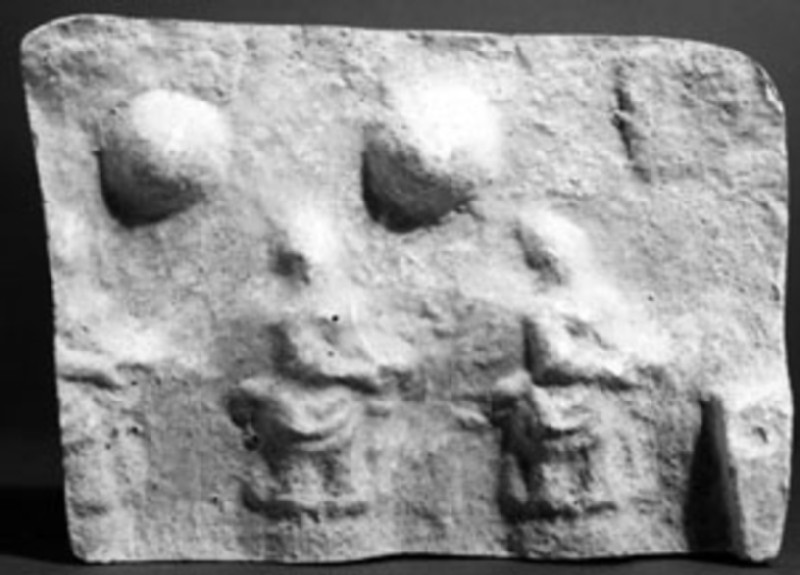 Cast of a relief of seated female figures, from Agrigento