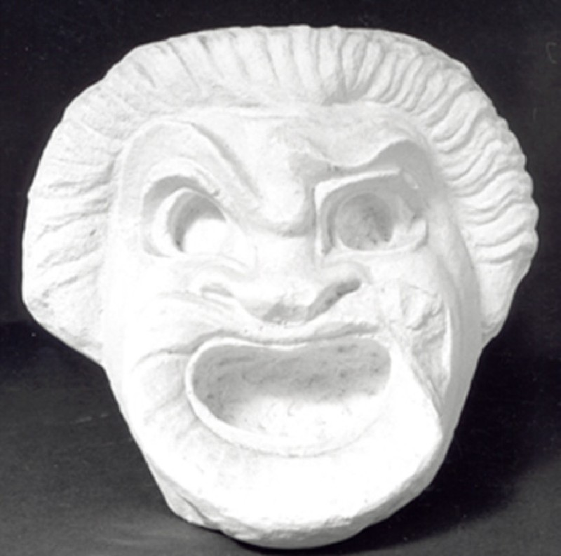 Cast of a theatre mask from Aphrodisias (CG.H.26, record shot)