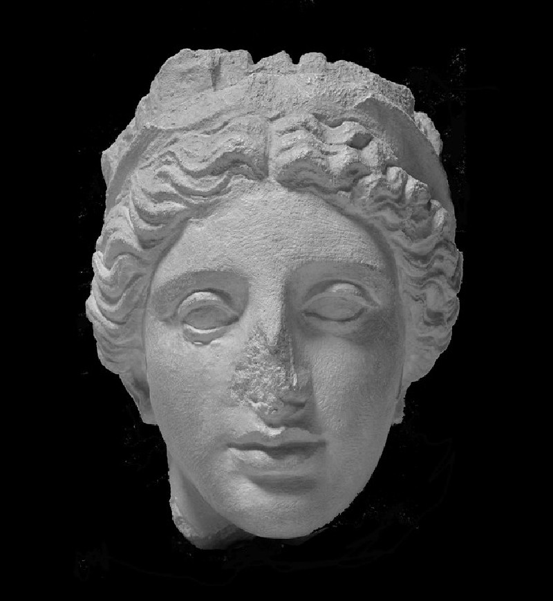 Cast of the head of Polis from the Zoilos Monument, Aphrodisias