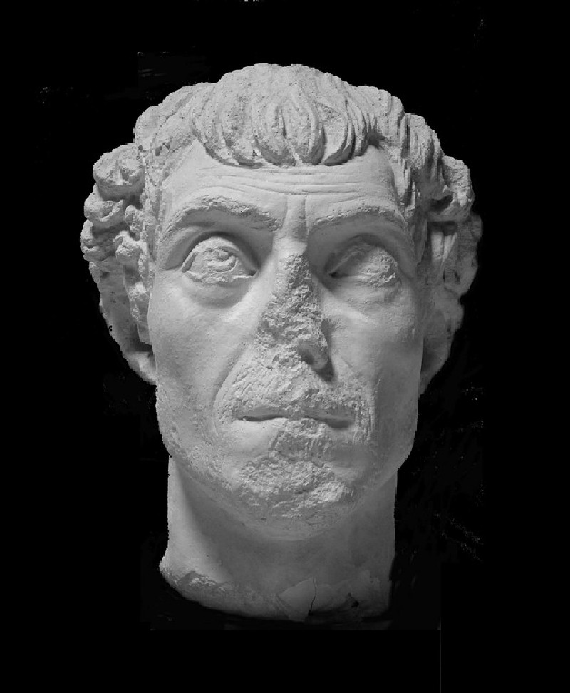 Cast of a male portrait head, from Aphrodisias
