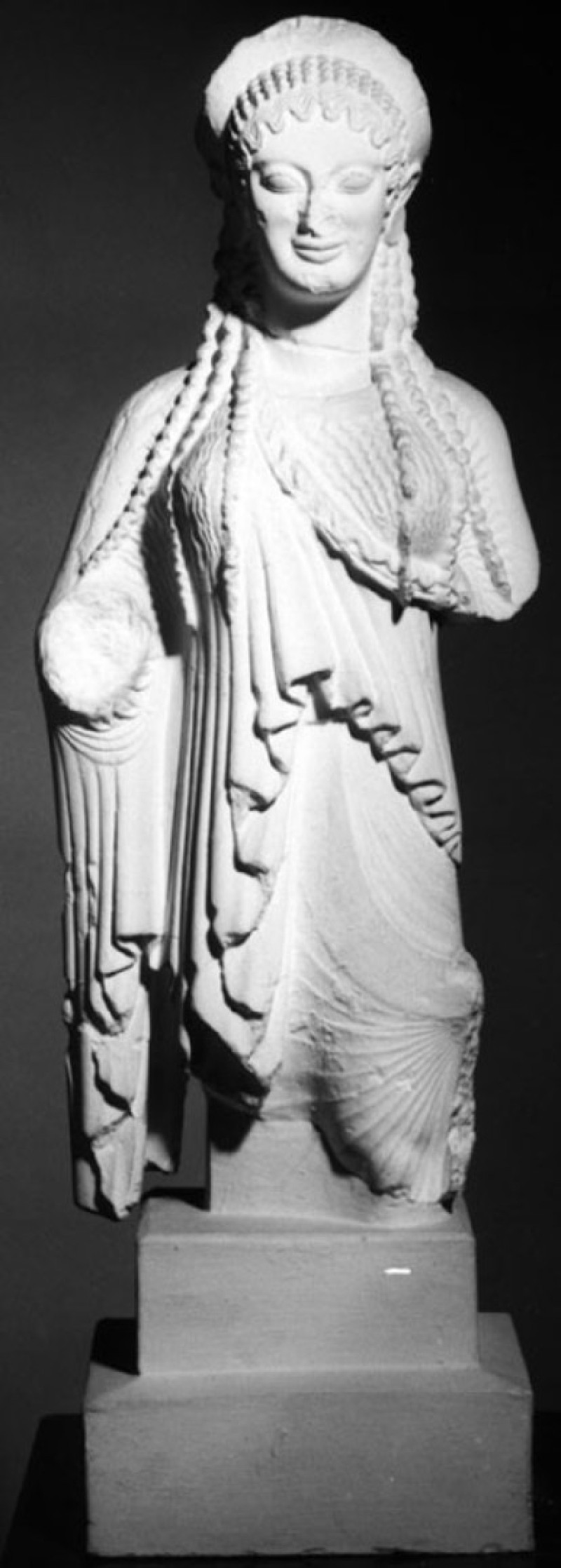 Cast of Kore 675 from the Acropolis, Athens (CG.B.53, record shot)
