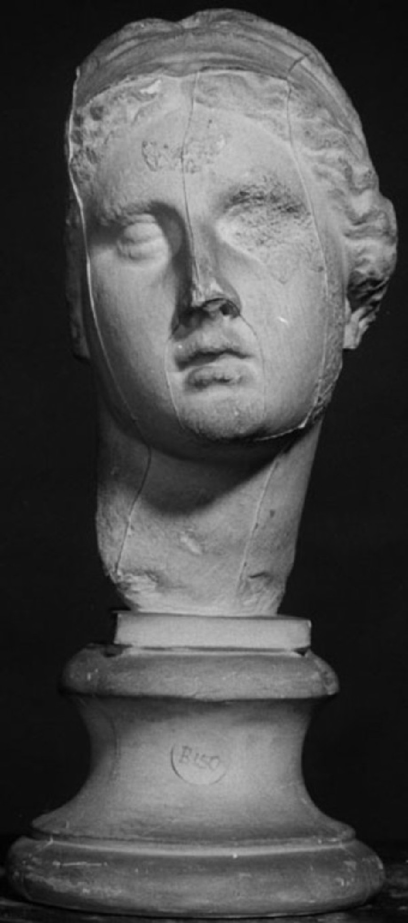 Cast of a female head from the Asklepieion, Kos