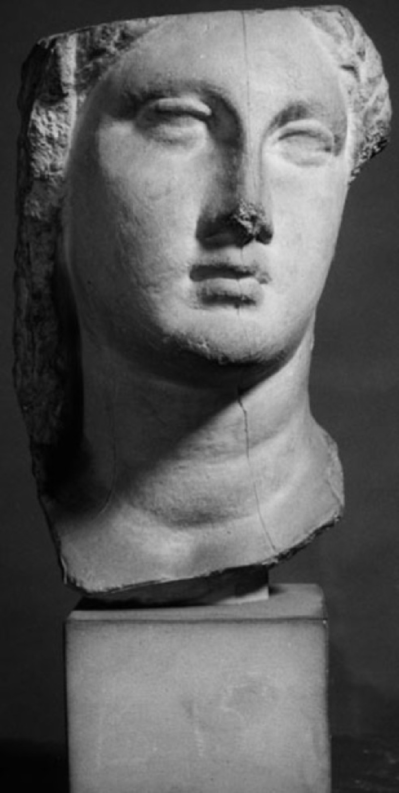 Cast of a female head from Gizeh