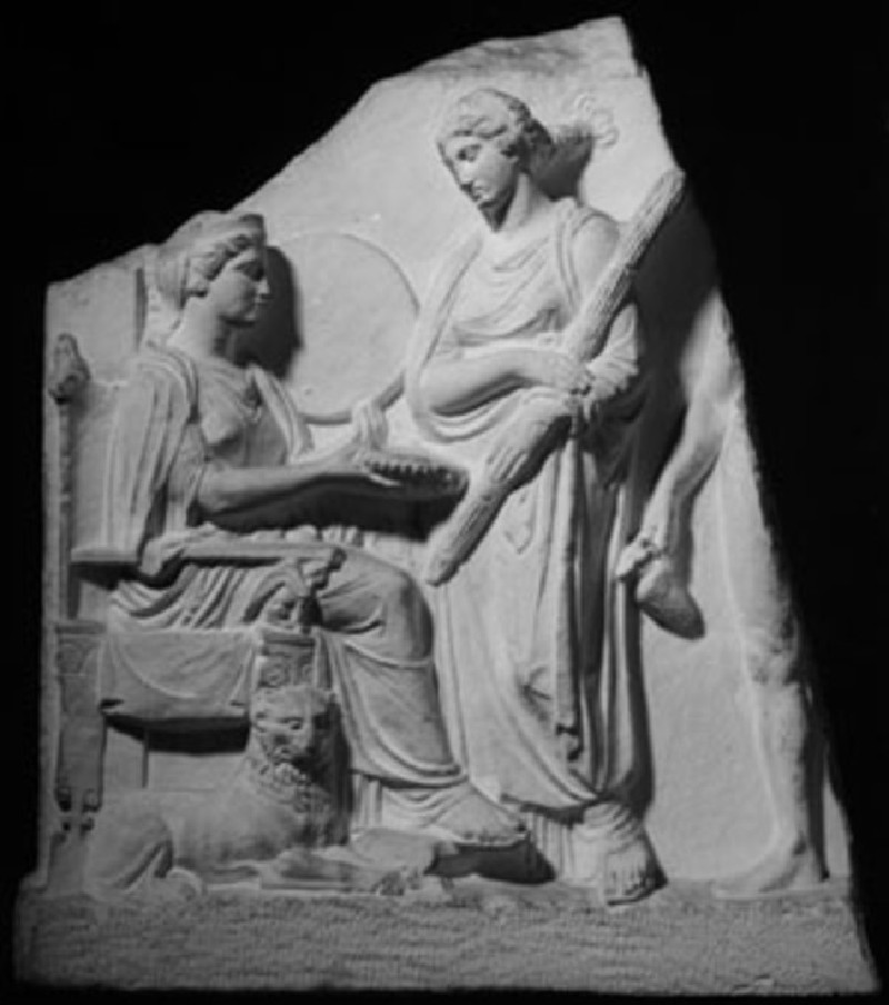 Cast of a votive relief to Kybele (CG.D.85, record shot)
