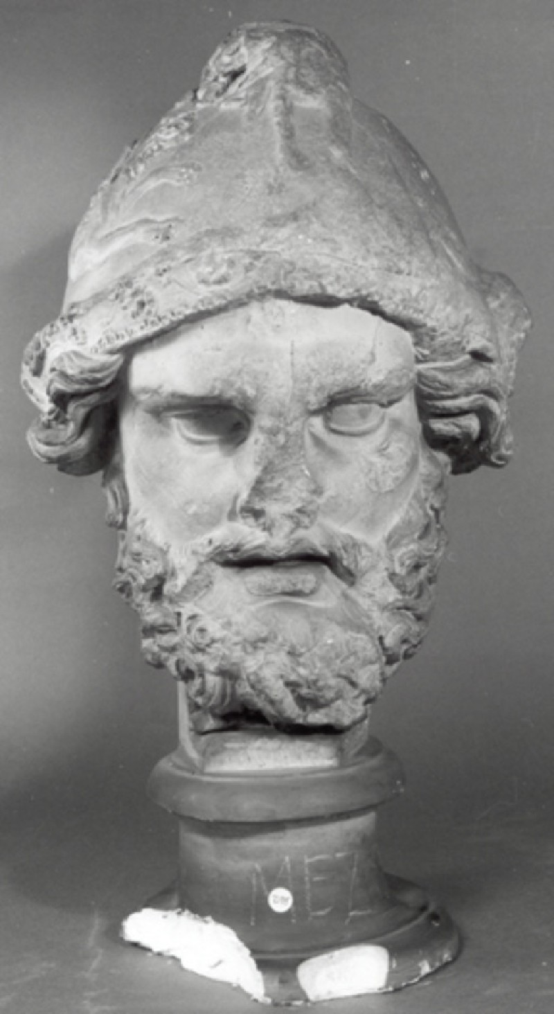 Cast of the head of Mars from a relief