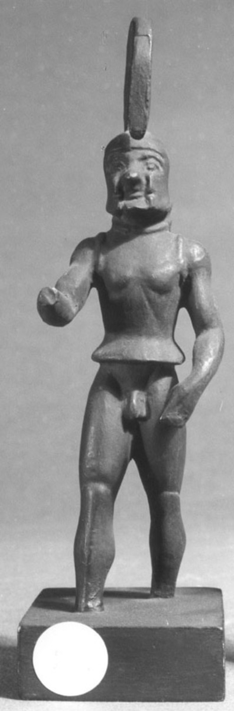 Cast of a statuette of a warrior, from Olympia (CG.F.21, record shot)