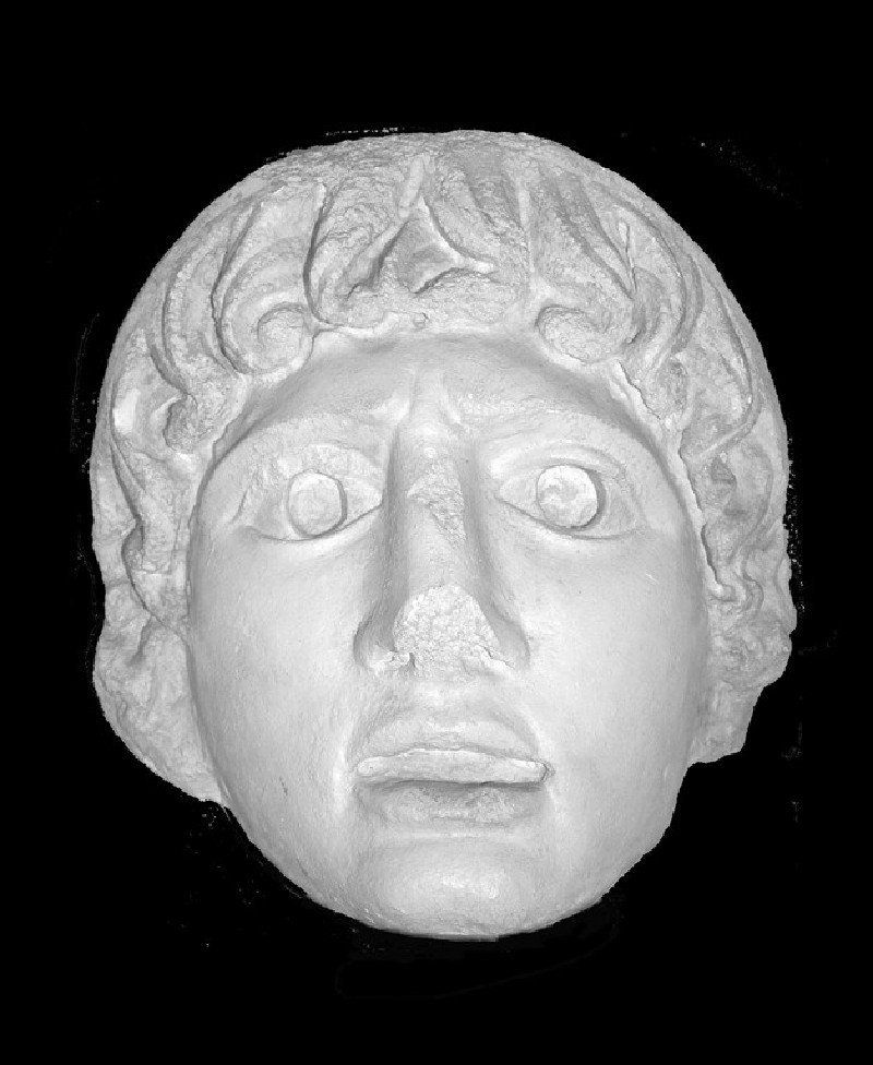 Cast of a female theatre mask from Aphrodisias (CG.H.81, record shot)