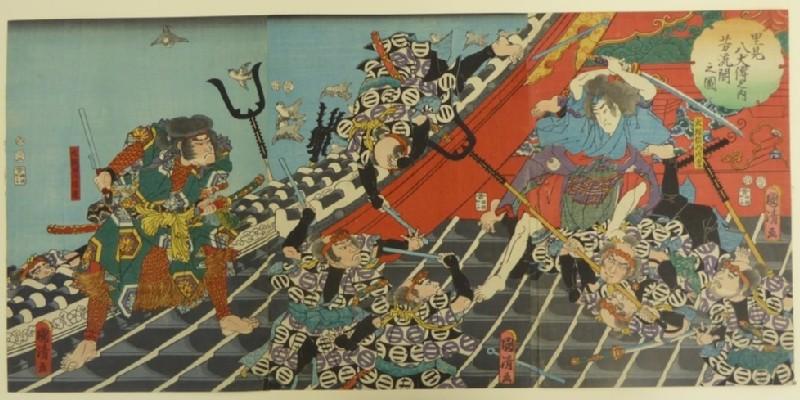 Satomi Hakkenden no uchi Hōryūkaku no zu