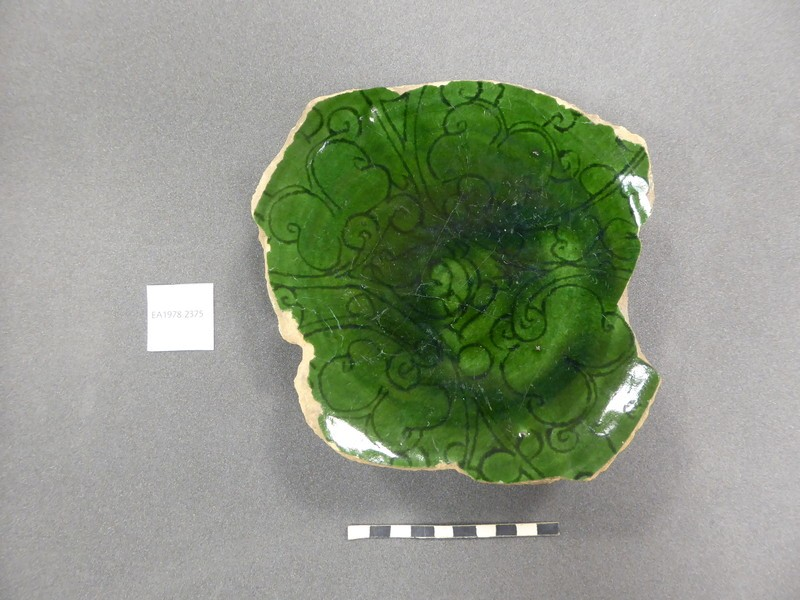 Base fragment with palmettes