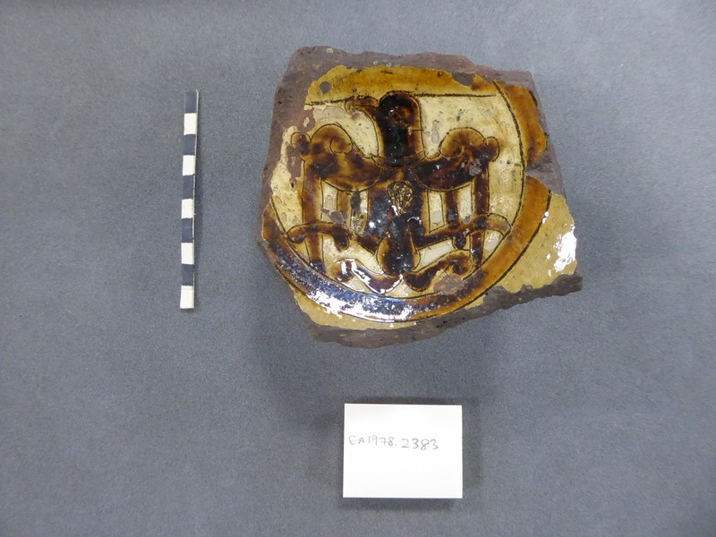 Base fragment of a vessel with eagle
