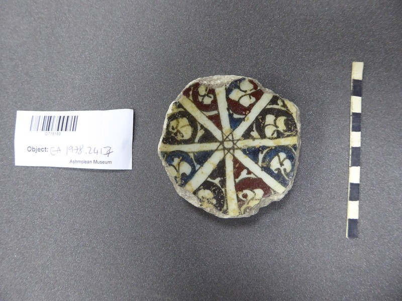 Base fragment of a bowl with radiating lines (EA1978.2417, record shot)