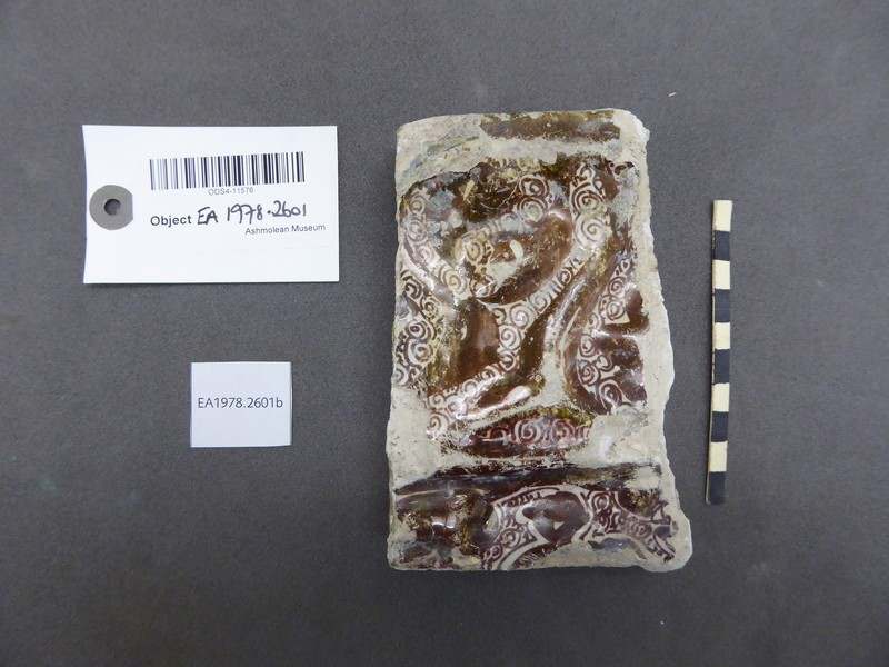 Fragment from a tile with arabesques (EA1978.2601.b, record shot)