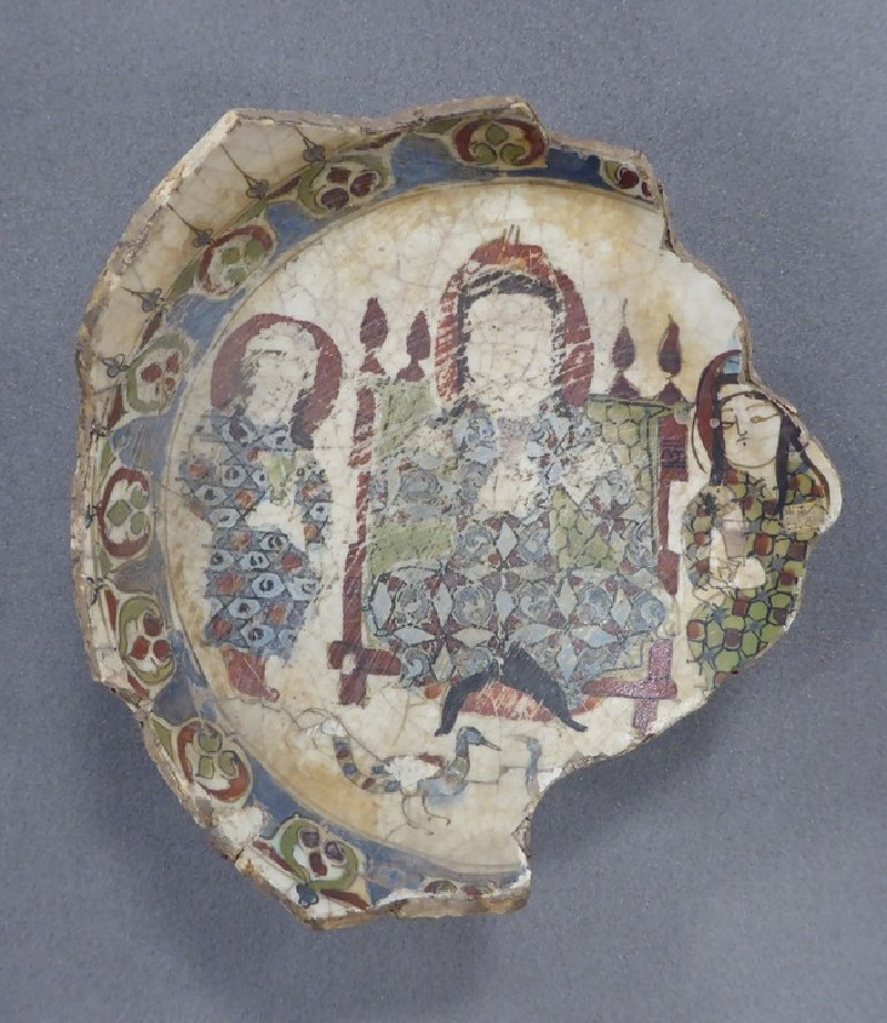 Bowl base with enthroned figure and attendants (EA1978.2605, front             , record shot)