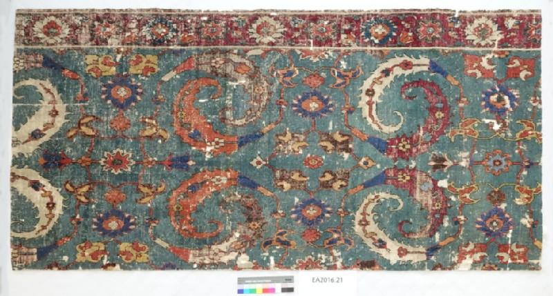 Sickle-leaf carpet fragment (EA2016.21, record shot)